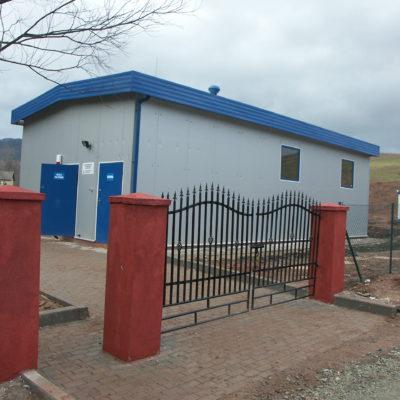 budynek stacji filtrów w Czerwieńczycach