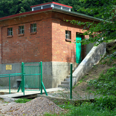 budynek stacji filtrów w Przygórzu